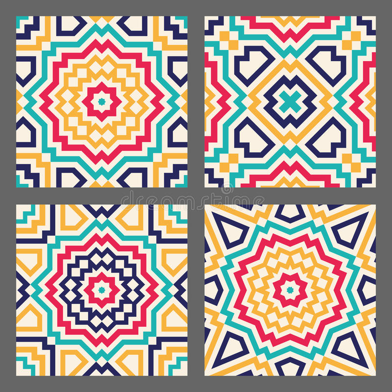 Abstrakte geometrische Fliese vektor abbildung