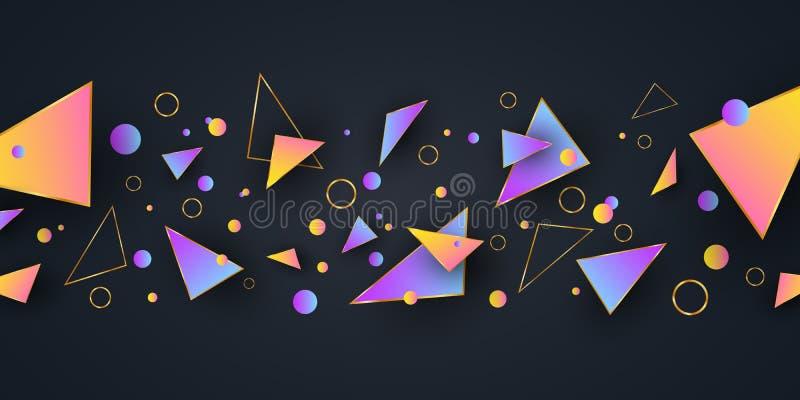 Abstrakte geometrische Formen Hintergrund f?r Ihre Auslegung Niedrige Polyart Gelegentliche Formen Abstrakte mehrfarbige Formen P stock abbildung