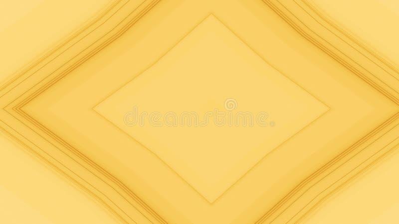 Abstrakte geometrische Formen und Linien auf gelbem Hintergrund Raute oder Diamantmuster stock abbildung
