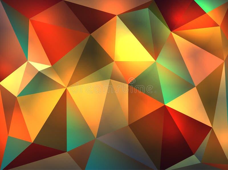 Abstrakte geometrische glühende Dreieck-Illustration stock abbildung