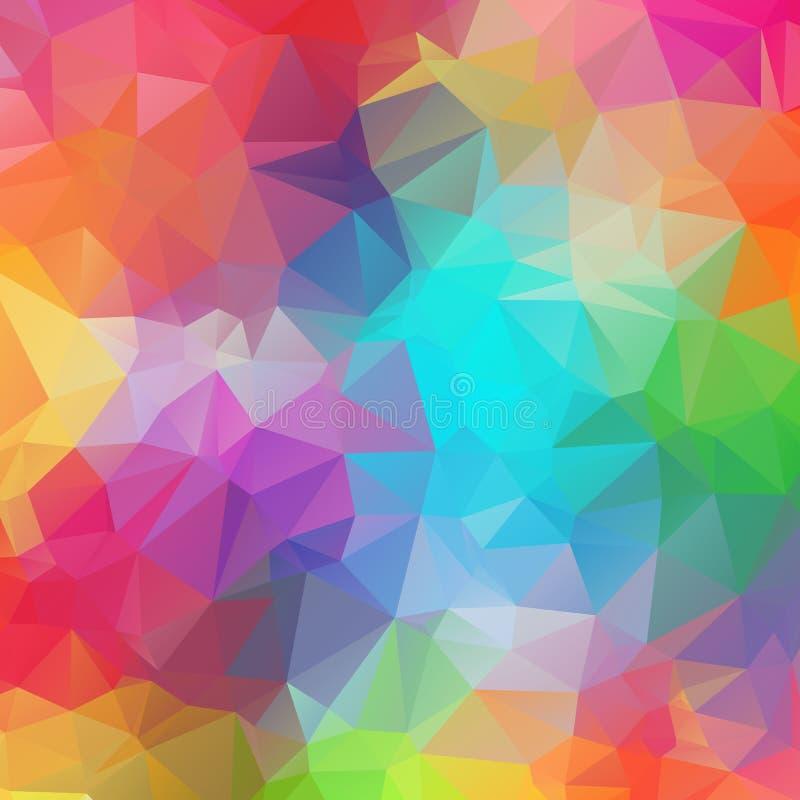 Abstrakte geometrische Hintergr?nde farbenreich stock abbildung