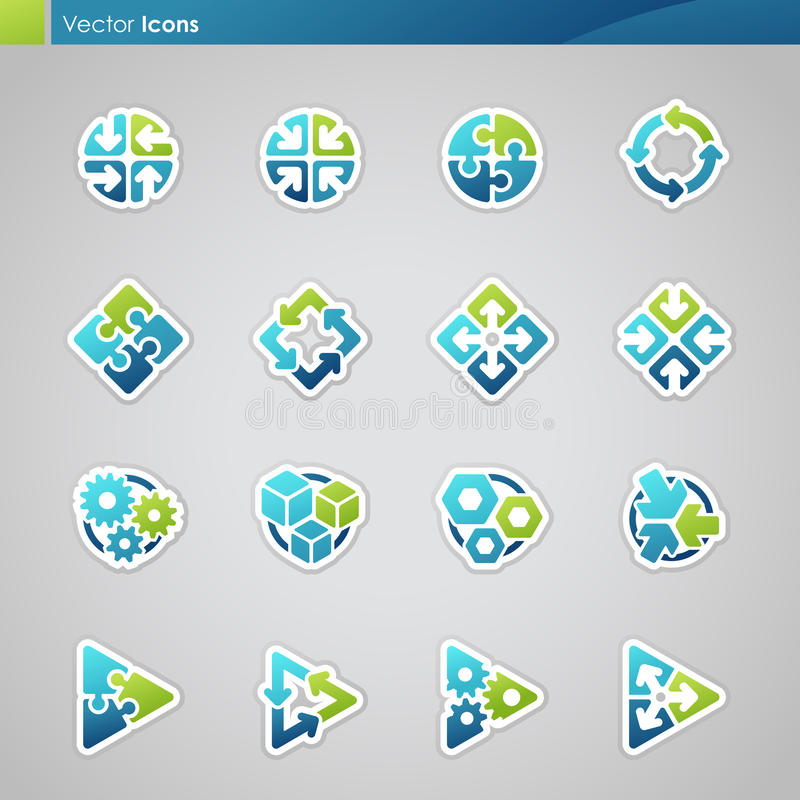 Abstrakte geometrische Ikonen. stock abbildung