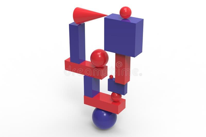 Abstrakte geometrische Struktur in der Farbe stock abbildung
