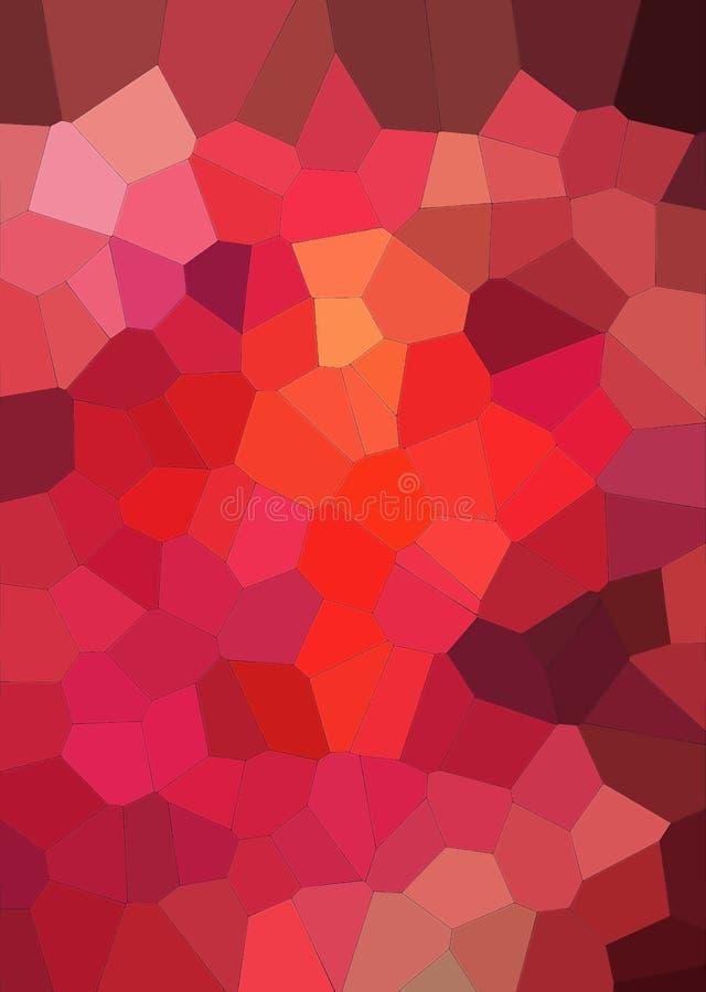 Abstrakte geometrische Struktur im roten Ton Mehrfarbiger Hintergrund lizenzfreie stockfotografie