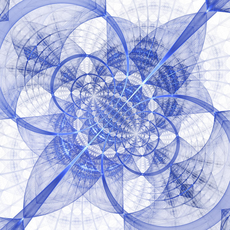 Abstrakte geometrische Verzierung auf weißem Hintergrund stock abbildung