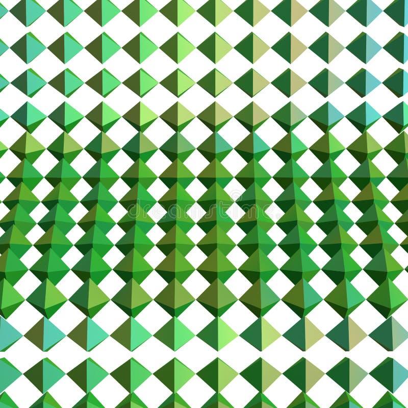 Abstrakte geometrische Wiedergabe der Formen 3d vektor abbildung