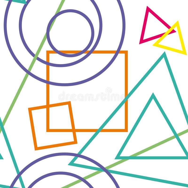 Abstrakte geometrische Zahlen Hintergrund Nahtlose Beschaffenheit stockbild