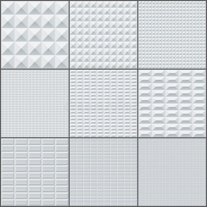 Abstrakte geometrische Ziegelsteine des weißen und grauen Rechtecks vektor abbildung