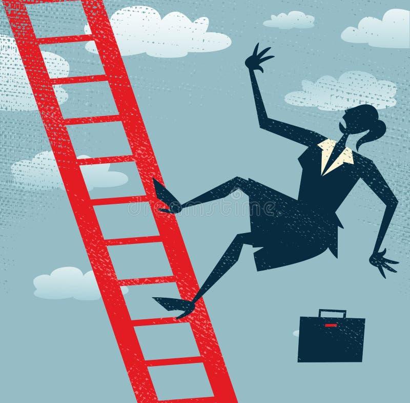 Abstrakte Geschäftsfraufälle Lizenzfreie Stockfotos