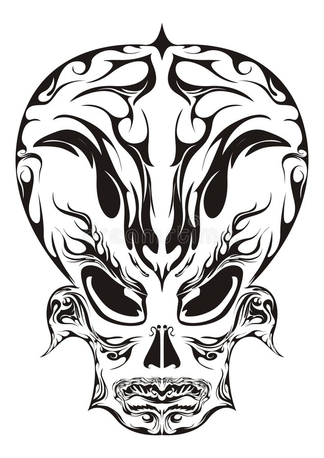 Abstrakte Gesichts-Auslegung vektor abbildung