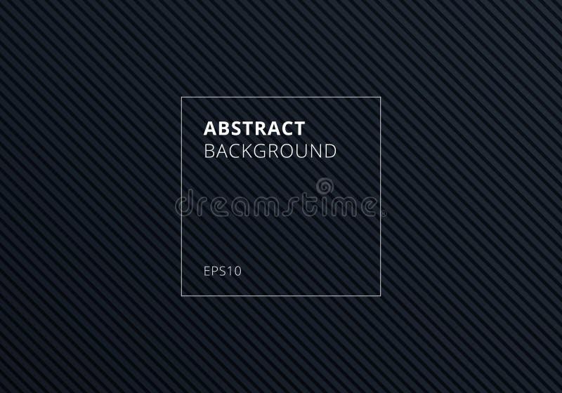 Abstrakte gestreifte Linien diagonales Muster auf schwarzem Hintergrund und Beschaffenheit vektor abbildung