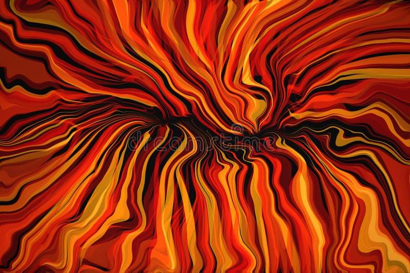 Abstrakte gewellte Flammen stockbild