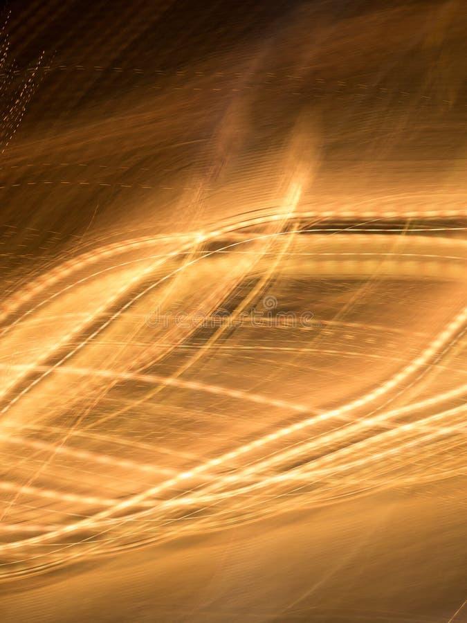 Abstrakte gewellte Form, goldener Hintergrund lizenzfreie abbildung
