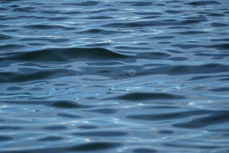 Abstrakte gewellte Szene der einfrierenden Bewegung der blauen Meerwasser-Kräuselung mit weißer Reflexion des Sonnenlichts, Steig lizenzfreie stockbilder