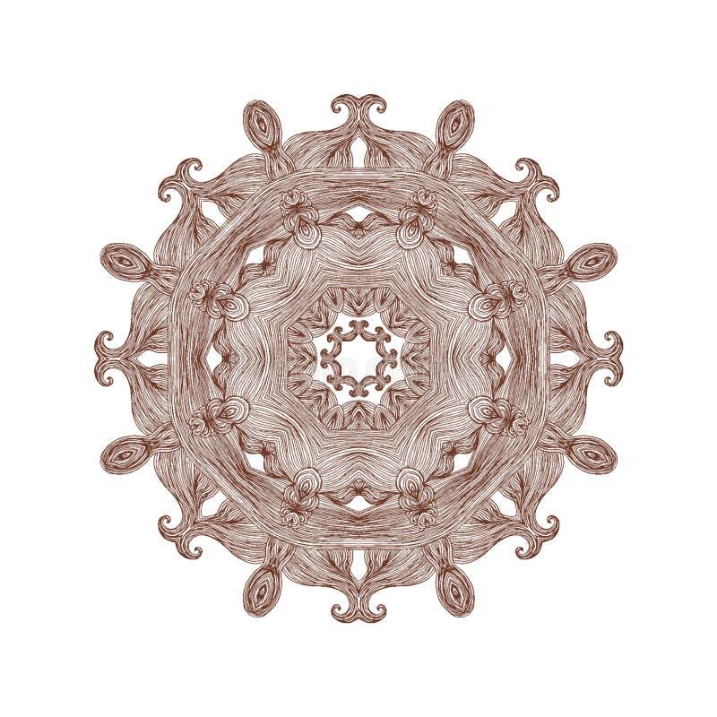 Abstrakte gewellte Verzierung Dekorativer dekorativer runder Entwurf lizenzfreie abbildung