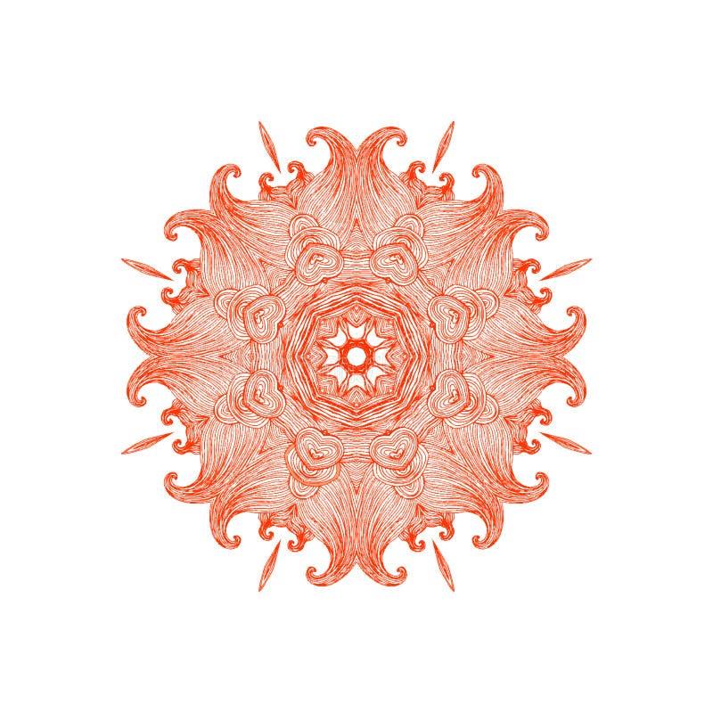 Abstrakte gewellte Verzierung Dekorativer dekorativer runder Entwurf vektor abbildung