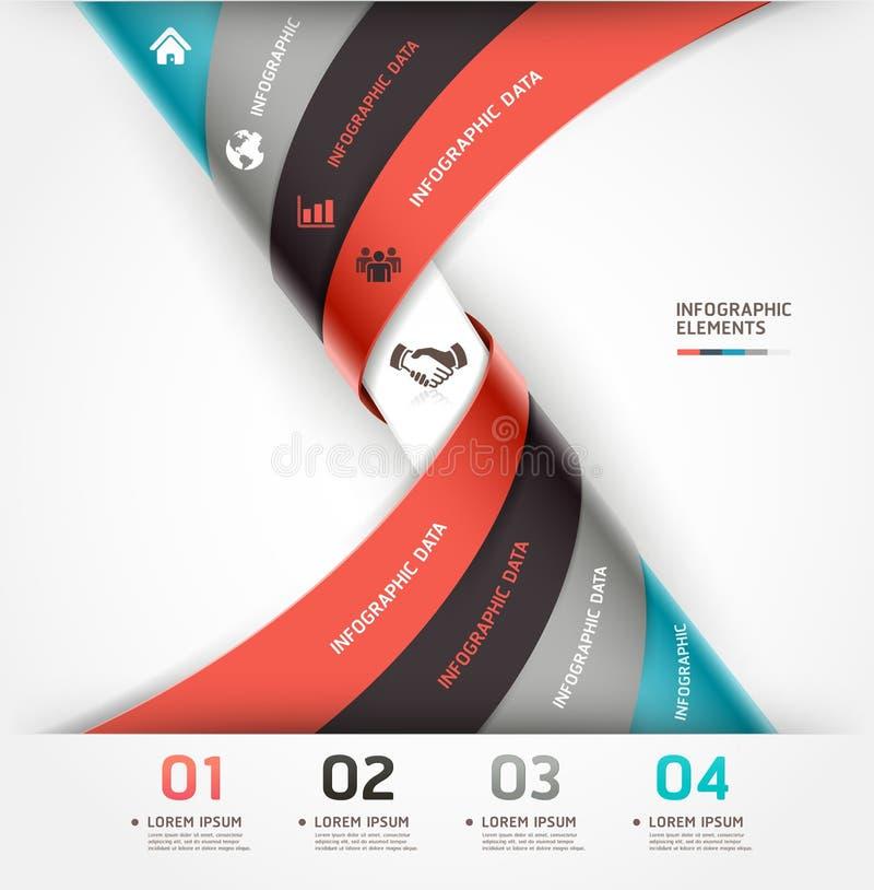 Abstrakte gewundene infographics Wahlfahne. vektor abbildung