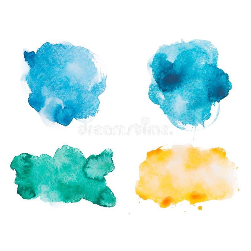 Abstrakte gezeichnetes buntes des Aquarellaquarells Hand stock abbildung