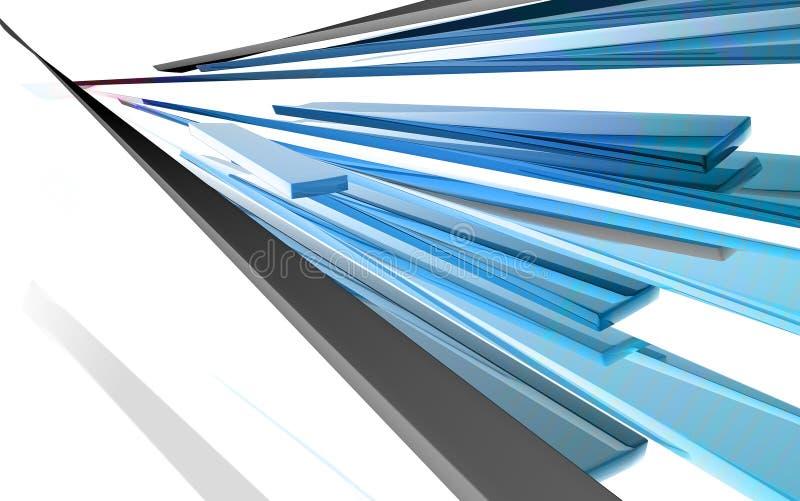 abstrakte glänzende Auslegung 3D stockfotografie