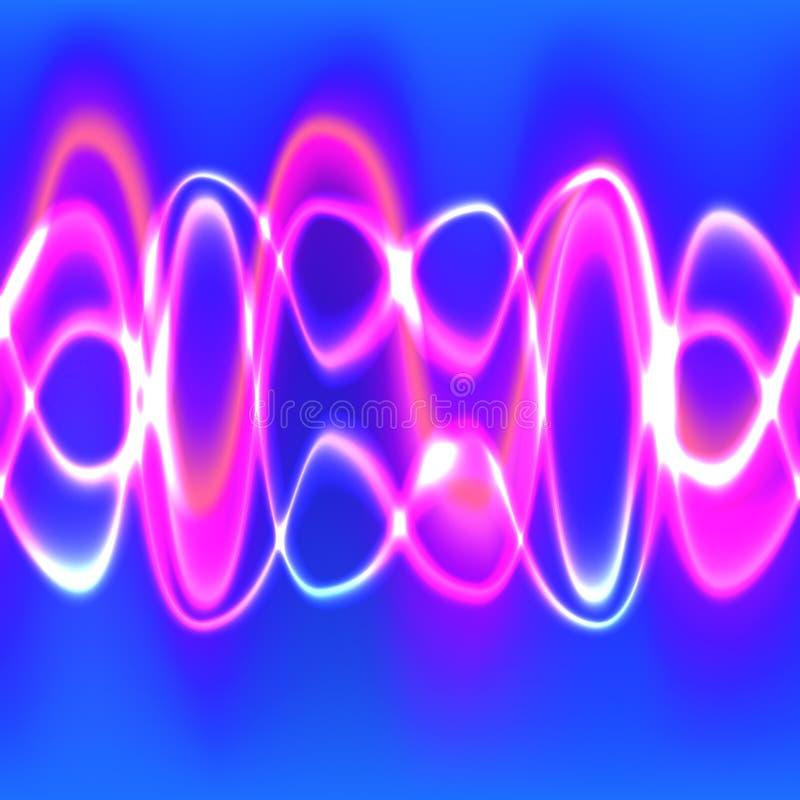 Abstrakte Glühen-Wellen-Linien stock abbildung