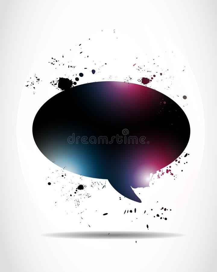 Abstrakte glühende Spracheluftblase lizenzfreie abbildung