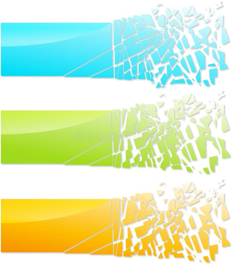 Abstrakte Glasfahne lizenzfreie abbildung
