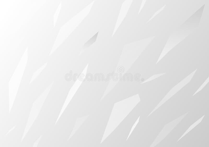 Abstrakte Glasplatten auf grauem Steigungshintergrund vektor abbildung