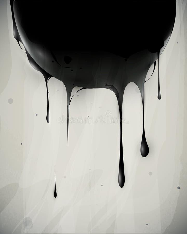 Abstrakte glatte Flüsse des Schmieröls lizenzfreie abbildung