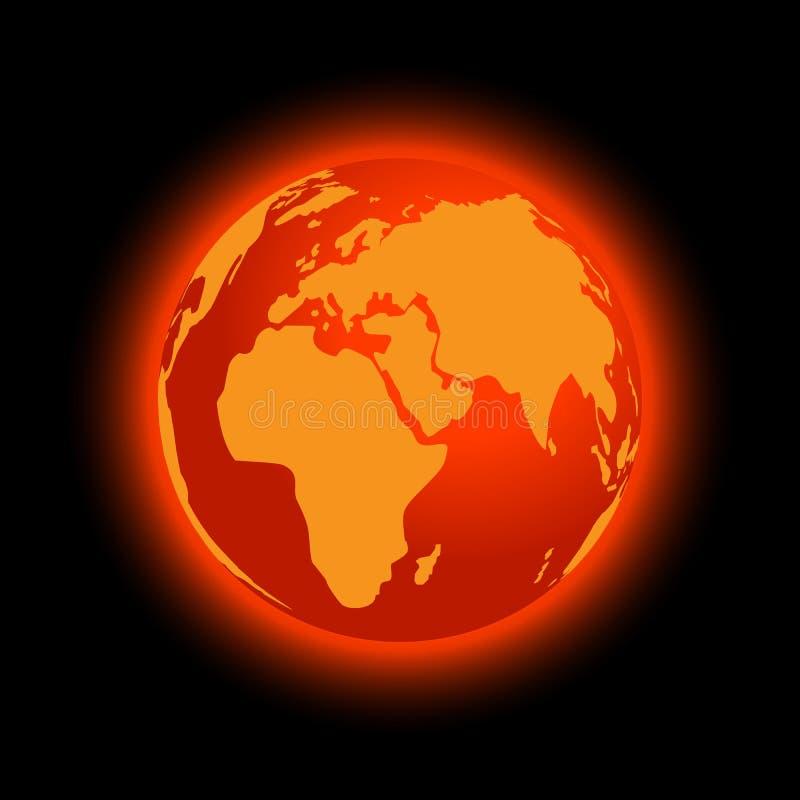 Abstrakte globale Erwärmung vektor abbildung