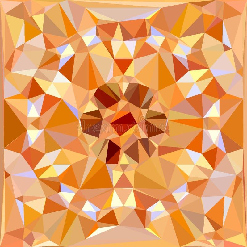 Abstrakte goldene Diamantillustration mit Lichtern und Reflexionen tauchen auf stock abbildung