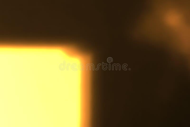 Abstrakte goldene Lichtimpulse und glüht Lichtleckeffekt-Bewegungshintergrund stockbilder