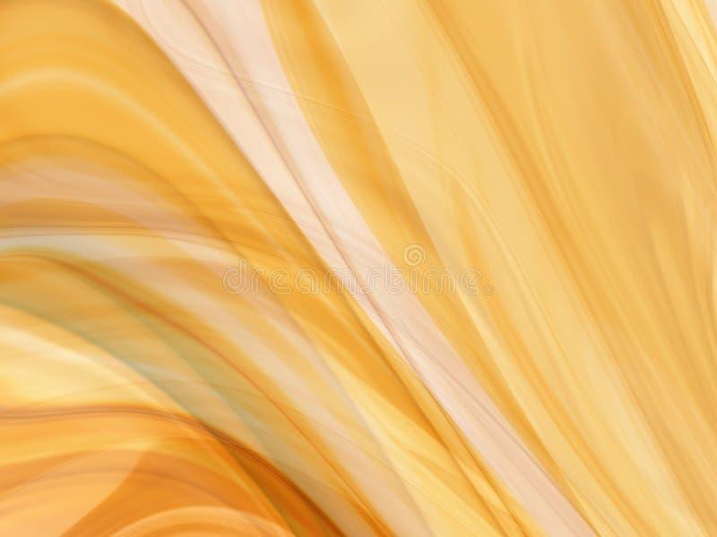 Abstrakte goldene Seide oder Rauch lizenzfreie abbildung