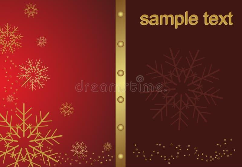 Abstrakte goldene Weihnachtsschneeflocke vektor abbildung