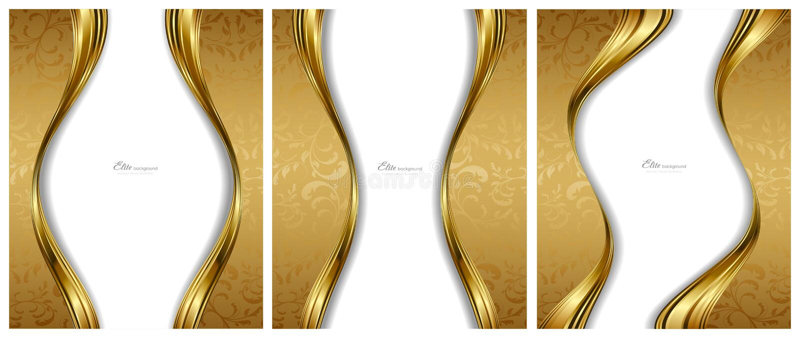 Abstrakte Goldhintergrundschablonen vektor abbildung