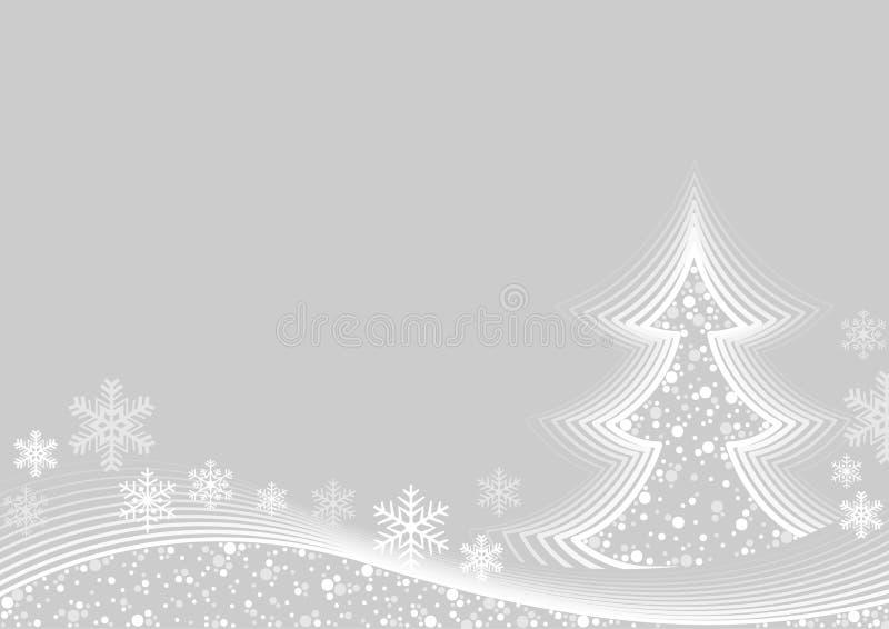 Abstrakte grüßende weiße Weihnacht vektor abbildung