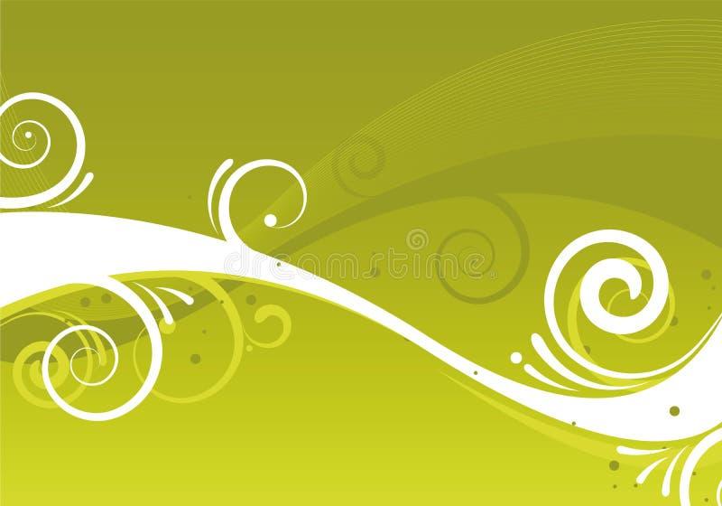 Abstrakte grüne Auslegung lizenzfreie abbildung