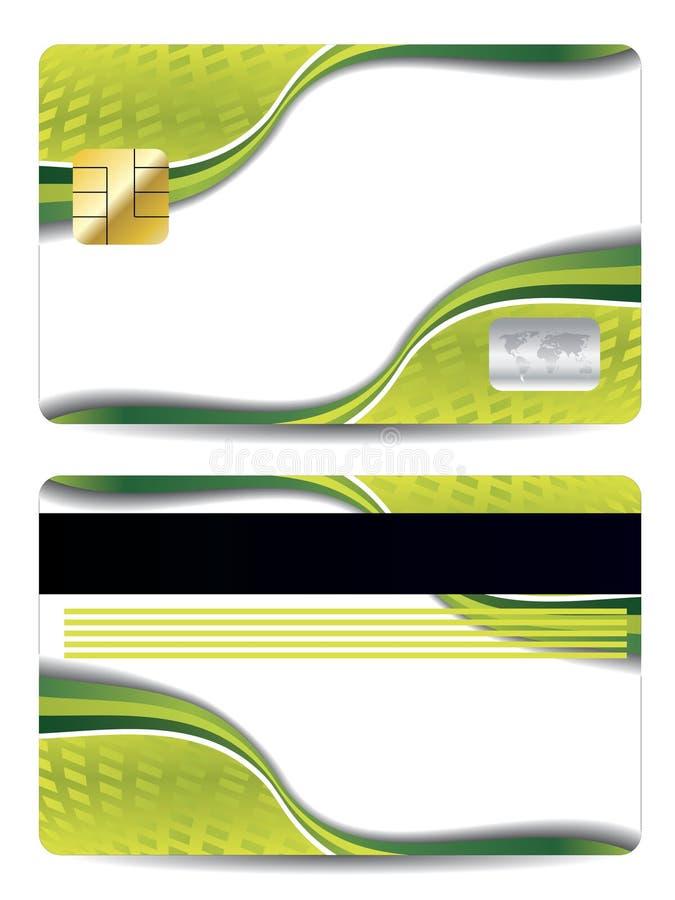 Abstrakte grüne Auslegung-Kreditkarte vektor abbildung