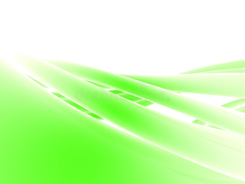 Abstrakte grüne Form stock abbildung