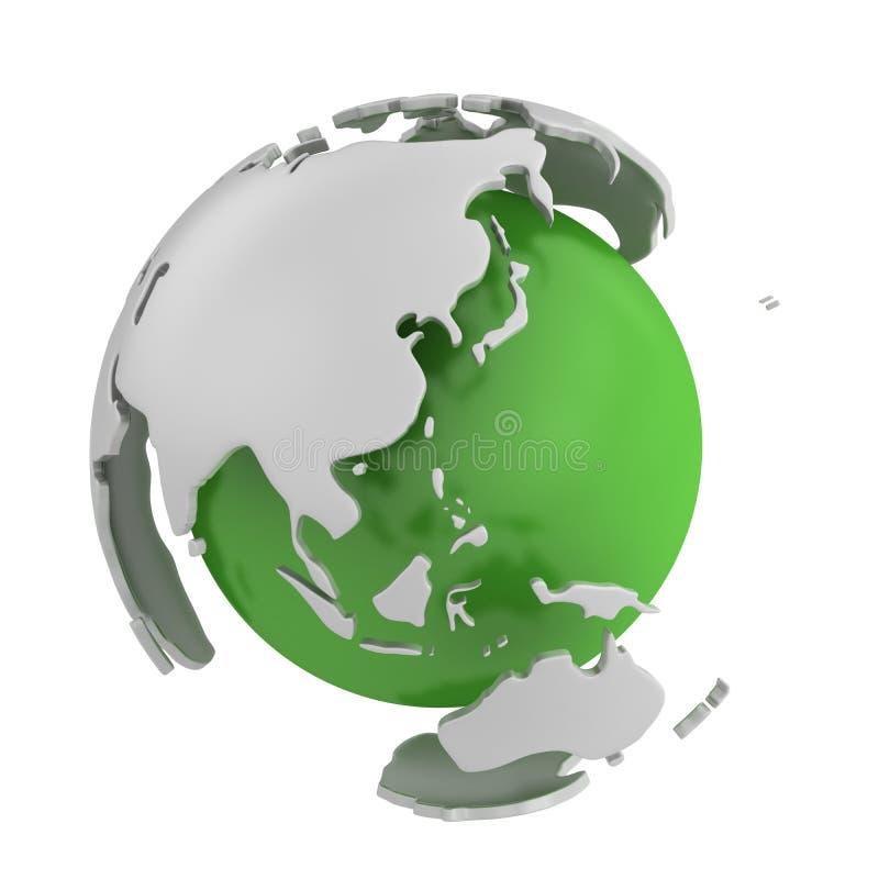 Abstrakte grüne Kugel, Asien vektor abbildung