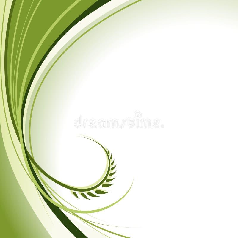 Abstrakte grüne Rotation vektor abbildung