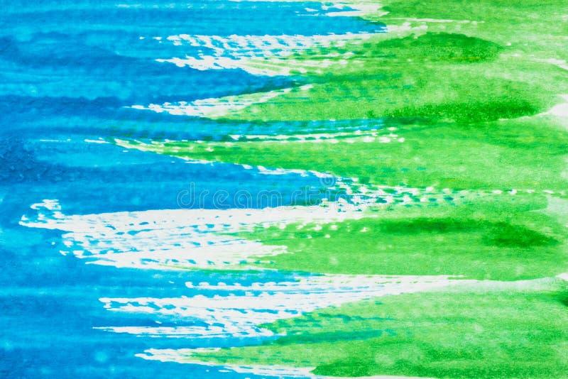 Abstrakte grüne und blaue Aquarellbeschaffenheit lizenzfreies stockbild
