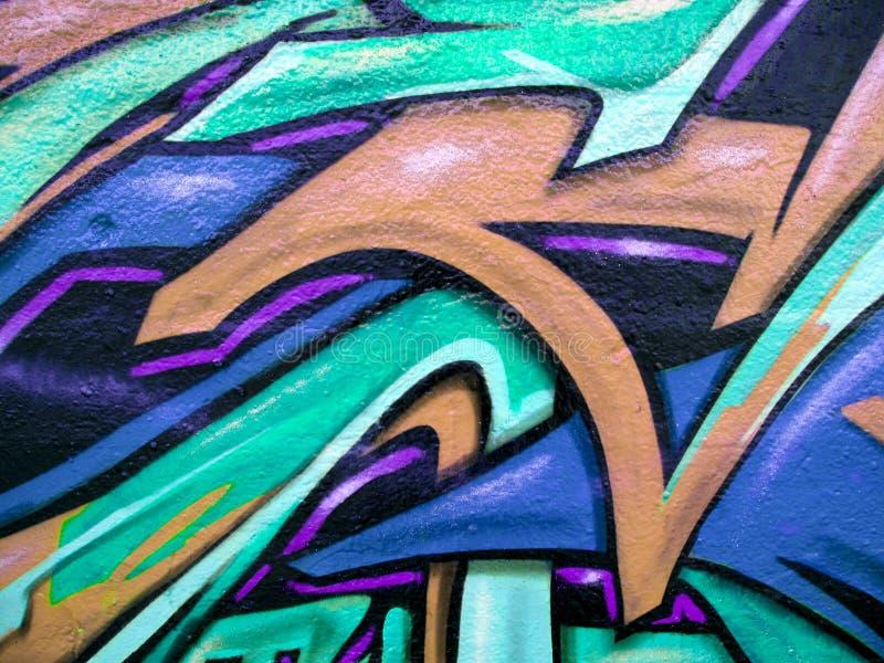 Abstrakte grüne und blaue Graffiti lizenzfreie stockfotografie