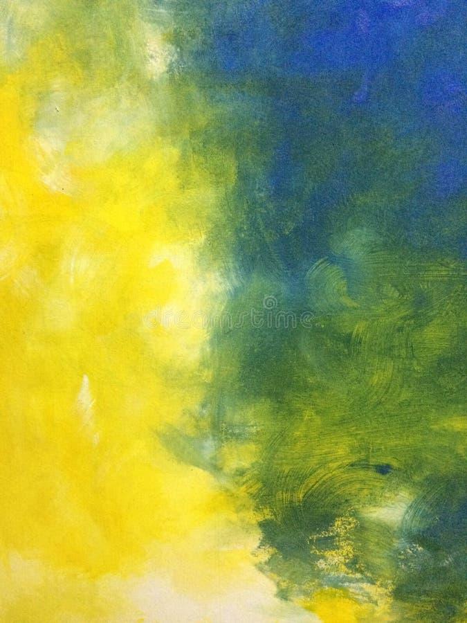 Abstrakte grüne und gelbe Kunst stockbild