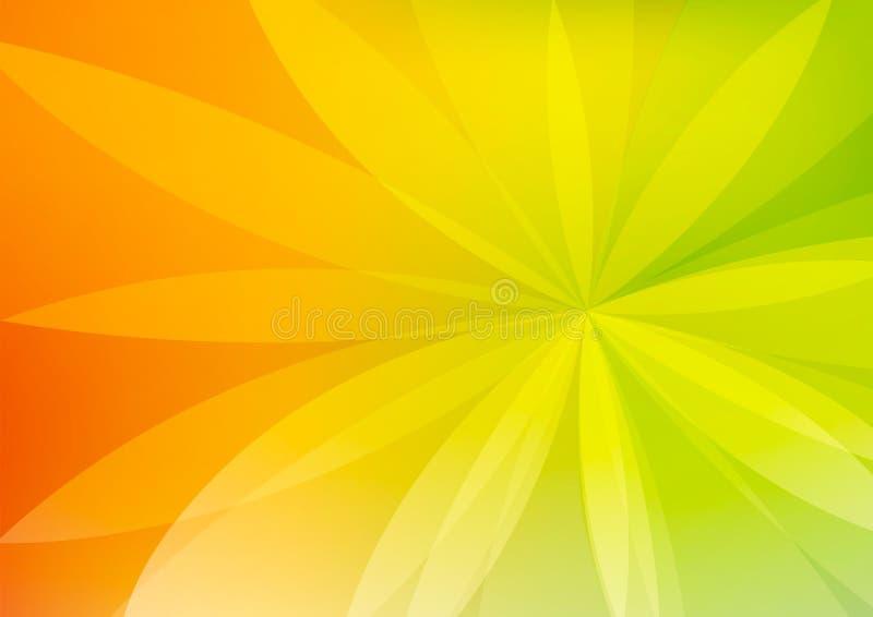 Abstrakte grüne und orange Hintergrund-Tapete stock abbildung