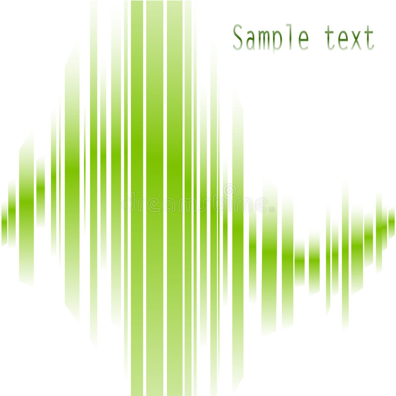 Abstrakte grüne Zeilen lizenzfreie abbildung