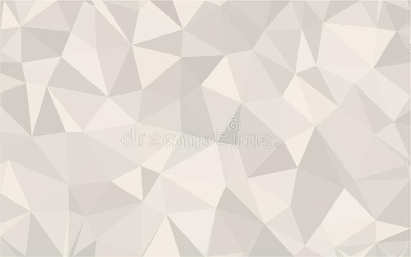 Abstrakte graue des Hintergrundes strukturierte Dreieckpolyformen niedrig im gelegentlichen Muster entwerfen lizenzfreie abbildung