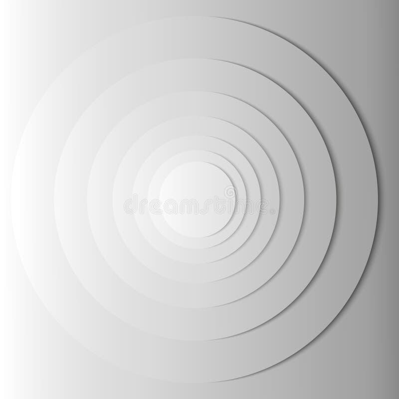 Abstrakte graue Kreise mit Schatten ENV 10 stock abbildung