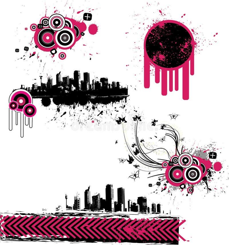 Abstrakte grunge Elemente stock abbildung