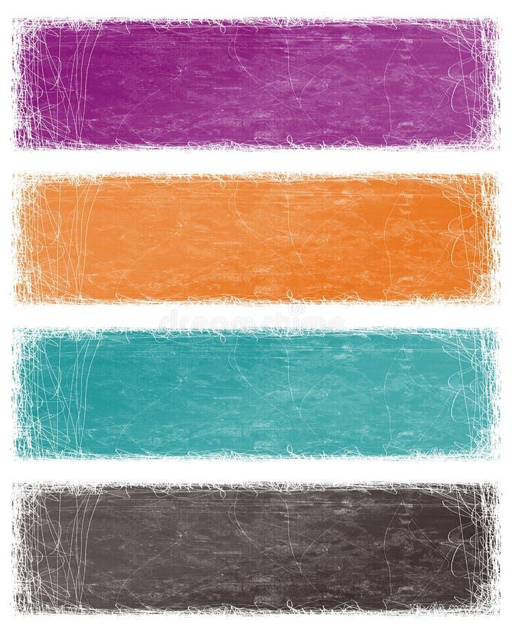 Abstrakte grunge Hintergründe stock abbildung
