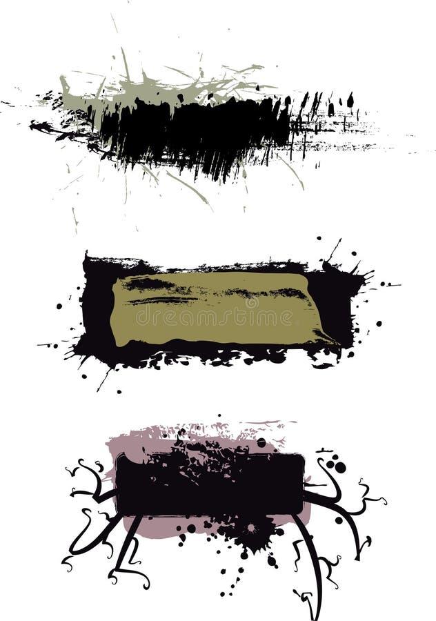 Abstrakte grunge Kennsätze vektor abbildung